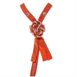 Rogz - Игрушка веревочная шуршащая, средняя (оранжевый) SCRUBZ ROPE TUG TOY - фото 7181