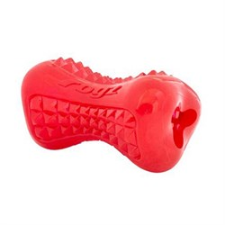 Rogz - Кость из резины с массажными насечками, малая (красный) YUMZ TREAT TOY SMALL - фото 7190