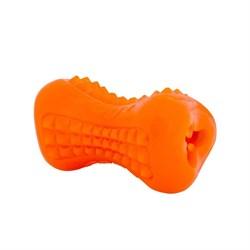 Rogz - Кость из резины с массажными насечками, большая (оранжевый) YUMZ TREAT TOY LARGE - фото 7202