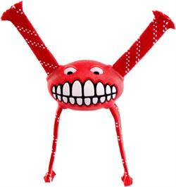 Rogz - Игрушка с принтом зубы и пищалкой, средняя (красный) FLOSSY GRINZ ORALCARE TOY - фото 7212