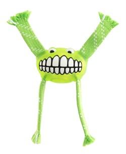Rogz - Игрушка с принтом зубы и пищалкой, средняя (лайм) FLOSSY GRINZ ORALCARE TOY - фото 7213