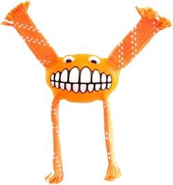 Rogz - Игрушка с принтом зубы и пищалкой, средняя (оранжевый) FLOSSY GRINZ ORALCARE TOY - фото 7214