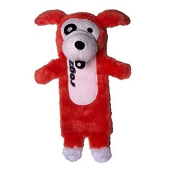 Rogz - Мягкая игрушка с карманом для пластиковой бутылки, малая (красный) THINZ SMALL PLUSH TOY - фото 7222