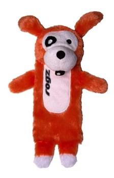 Rogz - Мягкая игрушка с карманом для пластиковой бутылки, малая (оранжевый) THINZ SMALL PLUSH TOY - фото 7224