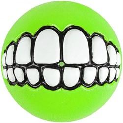 Rogz - Мяч с принтом зубы и отверстием для лакомств, малый (лайм) GRINZ BALL SMALL - фото 7253