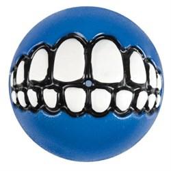 Rogz - Мяч с принтом зубы и отверстием для лакомств, малый (синий) GRINZ BALL SMALL - фото 7256