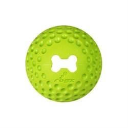 Rogz - Мяч из литой резины с отверстием для лакомств, средний (лайм) GUMZ BALL MEDIUM - фото 7273