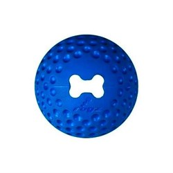 Rogz - Мяч из литой резины с отверстием для лакомств, средний (синий) GUMZ BALL MEDIUM - фото 7276