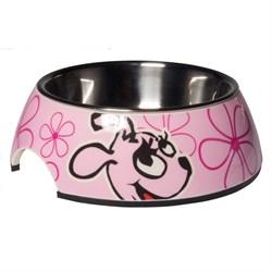 Rogz - Миска для щенков 2 в 1 (розовый) 350 мл BUBBLE BOWLZ MEDIUM - фото 7310