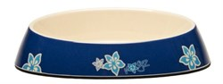 "Rogz - Миска для комфортного кормления ""Fishcake"", ""Синие цветы"", 200 мл MELAMINE CAT BOWL - фото 7367"