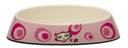 "Rogz - Миска для комфортного кормления ""Fishcake"", ""Розовое цветение"", 200 мл MELAMINE CAT BOWL - фото 7375"
