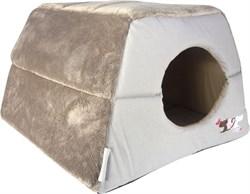 "Rogz - Мягкий домик-трансформер ""Влюбленные котики"" (41х41х30см) CATZ IGLOO - фото 7383"