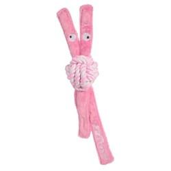 Rogz - Игрушка для щенков канатная с пищалкой, малая (розовый) COWBOYZ ROPE TOY - фото 7440