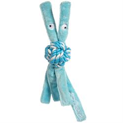 Rogz - Игрушка для щенков канатная с пищалкой, средняя (голубой) COWBOYZ ROPE TOY - фото 7441
