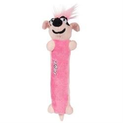 Rogz - Мягкая игрушка для щенков с пищалкой Clones Sausage, средняя (розовый) PLUSH TOYMEDIUM - фото 7446