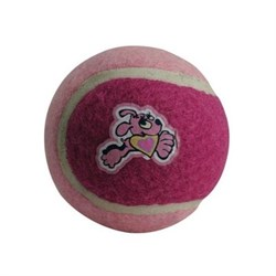 Rogz - Игрушка для щенков теннисный мяч, малый (розовый) TENNISBALL SMALL - фото 7452