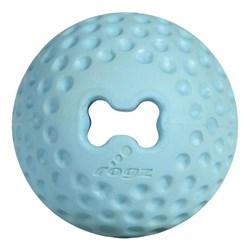 Rogz - Мяч для щенков из литой резины с отверстием для лакомств, средний (голубой) PUPZ GUMZ BALL MEDIUM - фото 7461