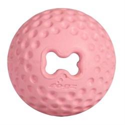 Rogz - Мяч для щенков из литой резины с отверстием для лакомств, средний (розовый) PUPZ GUMZ BALL MEDIUM - фото 7462
