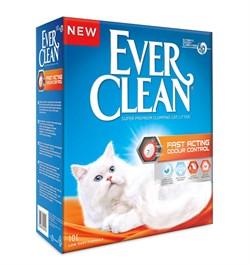 Ever Clean - Комкующийся наполнитель для кошек (мгновенный контроль запахов, оранжевая полоса) Fast Acting - фото 7665