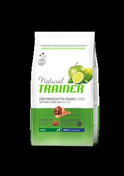 Trainer - Сухой корм для взрослых собак крупных пород (с сыровяленой ветчиной и рисом) Trainer Natural Maxi Adult - фото 7685