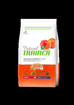 Trainer - Сухой корм для взрослых собак средних пород (с курицей и рисом) Trainer Natural Medium Adult - фото 7686