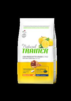 Trainer - Сухой корм для взрослых собак мелких и миниатюрных пород (с сыровяленой ветчиной и рисом) Trainer Natural Small & Toy - фото 7689