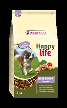 Happy Life (Versele-Laga) - Сухой корм для пожилых собак, контроль веса (с курицей) Light Senior Chicken - фото 7704