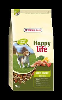 "Happy Life (Versele-Laga) - Сухой корм для собак ""Куриный ланч"" Adult Chicken Dinner - фото 7705"