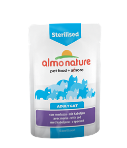 Almo Nature - Паучи для кастрированных кошек (с треской) Functional Sterilised with Code - фото 7820