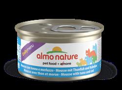 """Almo Nature - Консервы нежный мусс для кошек """"Меню с Тунцом и Треской"""" Daily Menu Mousse Tuna and Cod - фото 7863"""