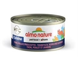 "Almo Nature - Консервы для кошек ""Тунец, курица и ветчина"" HFC Cuisine Adult Cat Tuna, Chicken and ham - фото 7872"