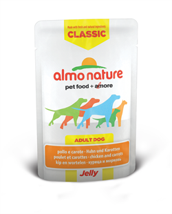 "Almo Nature - Паучи для собак ""Курица и Морковь в желе"" Classic Jelly Chicken and Carrots - фото 7887"