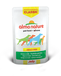 "Almo Nature - Паучи для собак ""Тунец и Сладкая кукуруза в желе"" Classic Jelly Tuna and Sweet Corn - фото 7891"
