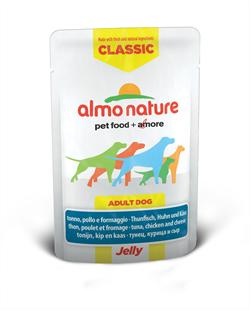 "Almo Nature - Паучи для собак ""Тунец, Курица и Сыр в желе"" Classic Jelly Tuna, Chicken and Cheese - фото 7892"