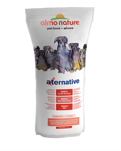 Almo Nature Alternative - Сухой корм для собак средних и крупных пород (со свежим лососем и рисом), 50 % мяса Alternative Fresh Salmon and Rice - фото 7898