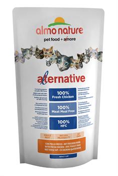 Almo Nature Alternative - Сухой корм для кошек (со свежим цыпленком) 55% мяса Alternative Chicken and Rice - фото 7911