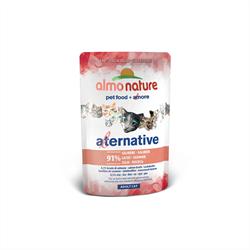 Almo Nature Alternative - Паучи для кошек (с лососем), 91% мяса Alternative Salmon - фото 7915