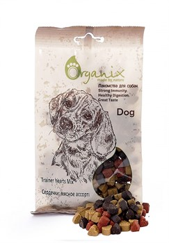 "Organix - Лакомства для собак ""Сердечки"" (мясное ассорти) Trainer Hearts Mix - фото 7949"