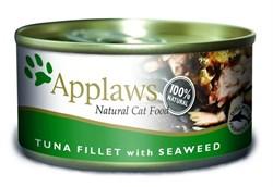 Applaws - Консервы для кошек (филе тунца с морской капустой) Cat Tuna Fillet and Seaweed - фото 7976