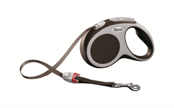 Flexi - Рулетка-ремень для собак, размер S - 5 м до 15 кг (коричневая) Vario tape brown - фото 8091