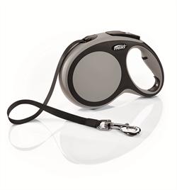 Flexi - Рулетка-ремень для собак, размер L - 8 м до 50 кг (серая) New Comfort Tape grey - фото 8129