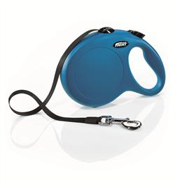 Flexi - Рулетка-ремень для собак, размер L - 8 м до 50 кг (голубая) New Classic Tape blue - фото 8130