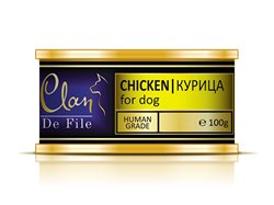 Clan De File - Консервы для собак (курица) № 53 - фото 8297