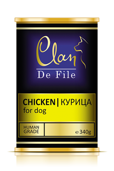 Clan De File - Консервы для собак (курица) № 63 - фото 8302