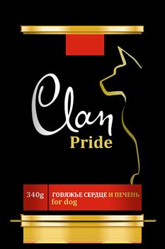 Clan Pride - Консервы для собак (говяжье сердце и печень) № 94 - фото 8328