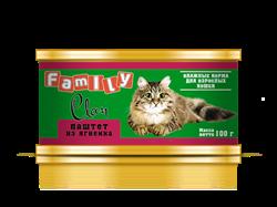 Clan  Family - Консервы для кошек (паштет из ягнёнка) №23 - фото 8332