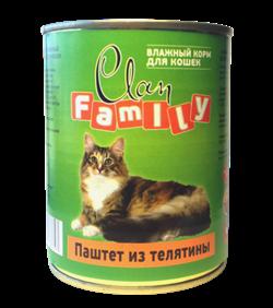 Clan Family - Консервы для кошек (паштет из телятины) №29 - фото 8337