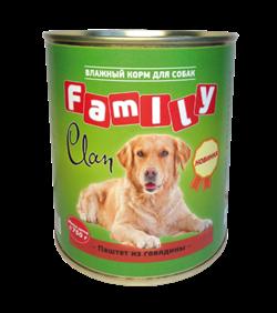 Clan  Family - Консервы для собак (паштет из говядины) №40 - фото 8342