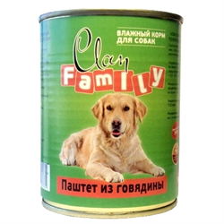 Clan Family - Консервы для собак (паштет из говядины) №43 - фото 8349