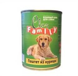 Clan Family - Консервы для собак (паштет из курицы) №45 - фото 8350